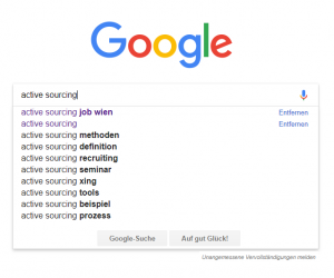 Screenshot Google Suche Active Sourcing