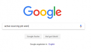 Google Screenshot Active Sourcing Job Wien
