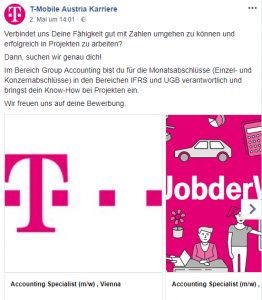 Stelleninserat T-Mobile